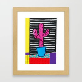 Prickly Pink Cactus Art Framed Art Print