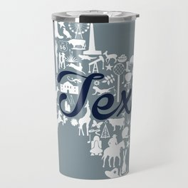 Dallas Cowboys Texas Landmark State - Gray and Blue Dallas Cowboys Theme Travel Mug