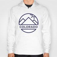 colorado Hoodies featuring Colorado by BMaw