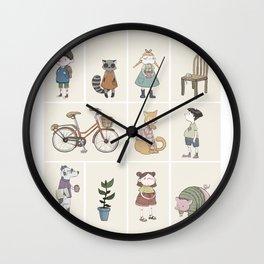 Small friends Wall Clock