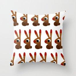 Easter Rabbit Throw Pillow