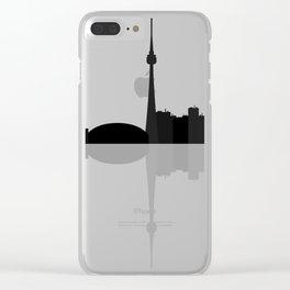 toronto skyline Clear iPhone Case
