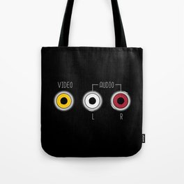 Plug in your mood! (Music + Video) Tote Bag