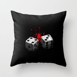 Lucky 7-Dice roll-Seven deadly sins-Gambling Throw Pillow