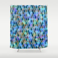 mermaid Shower Curtains featuring Mermaid by Schatzi Brown