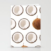 coconut wishes Stationery Cards featuring Coconut by GOLDASTIC
