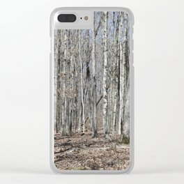 The Lonely Wood Clear iPhone Case