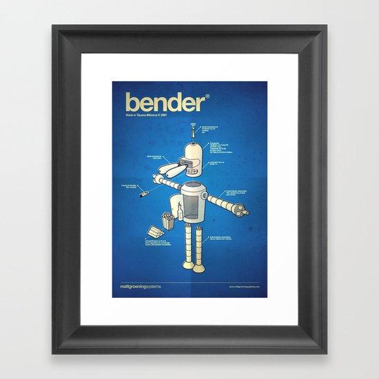 Bender Framed Art Print