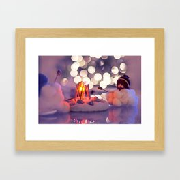 Baby, it's cold outside Framed Art Print