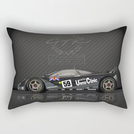 1995 Le Mans Winning McLaren F1 GTR #01R Rectangular Pillow