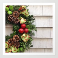 Holiday Wreath Art Print