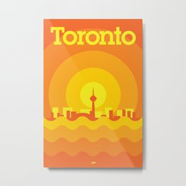 Toronto Minimalism Poster - Autumn Orange Metal Print