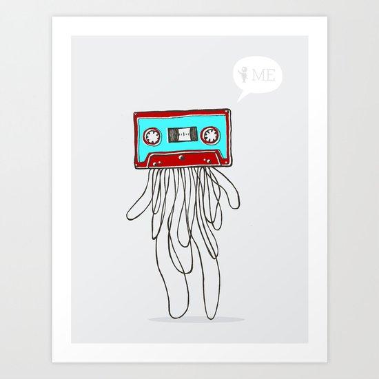 Cassette Boy Art Print