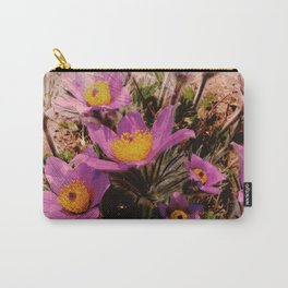 pasque-flower watercolor Carry-All Pouch
