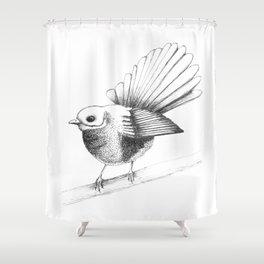 New Zealand Fantail Shower Curtain