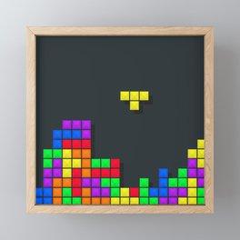 Tetris print design Framed Mini Art Print