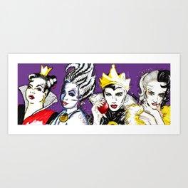Villains Club Art Print