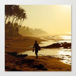 Sunset Beach. Canvas Print