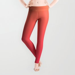 Peach Pink Gradient Leggings