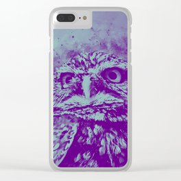 owl portrait 5 wspb Clear iPhone Case