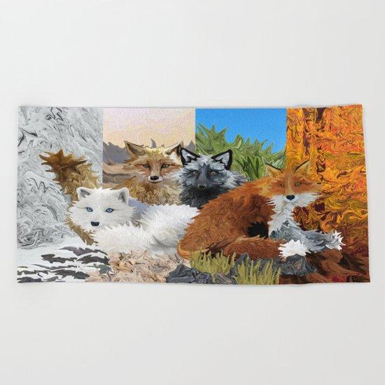 Four Shades of Fox Beach Towel