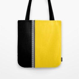 Greek Key 2 - Yellow and Black Tote Bag