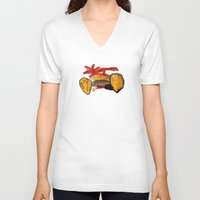 motorcycle V-neck T-shirts featuring Motorcycle by WeKids Design