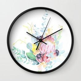 floral watercolor bouquet Wall Clock