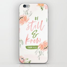 Be Still and Know Bible Verse iPhone Skin