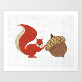 Nutty! Art Print