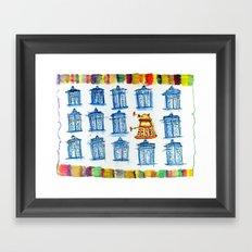 Doctor Whoodle Framed Art Print