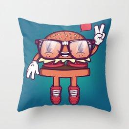 Hamburger - Food Series Guys Throw Pillow