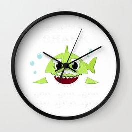 Mens Grampy Shark Doo Doo Doo Shirt Matching Family Shark T-Shirt Wall Clock