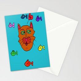 FishyCat Stationery Cards