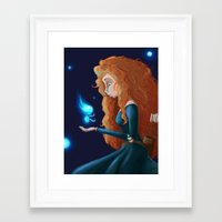 brave Framed Art Prints featuring Brave  by Paula Birrell