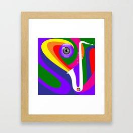 Eye Sax Framed Art Print