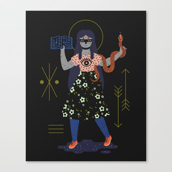 Witch Series: Spell Book Canvas Print
