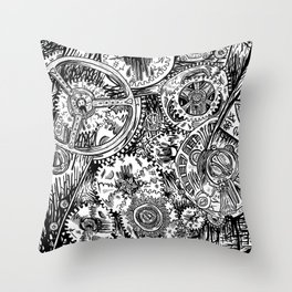 Deus Ex Machina Throw Pillow