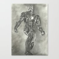 ironman Canvas Prints featuring Ironman by Meliese Reid