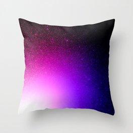 Fuchsia Purple Blue Ombre Throw Pillow