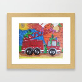 Fire Engine II Framed Art Print