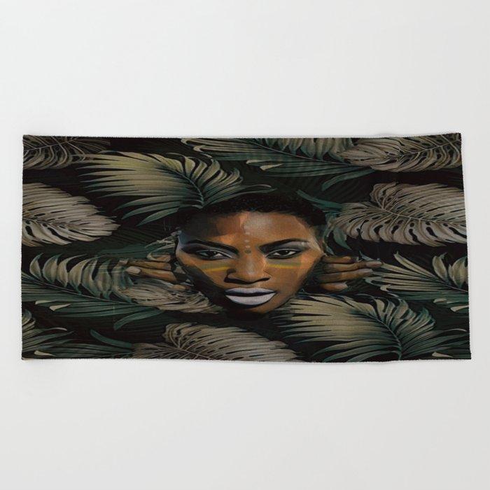 In the jungle Beach Towel