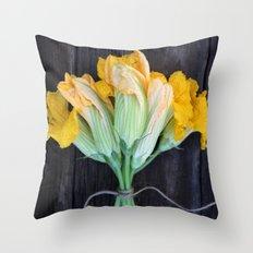 Squash Blossom Throw Pillow