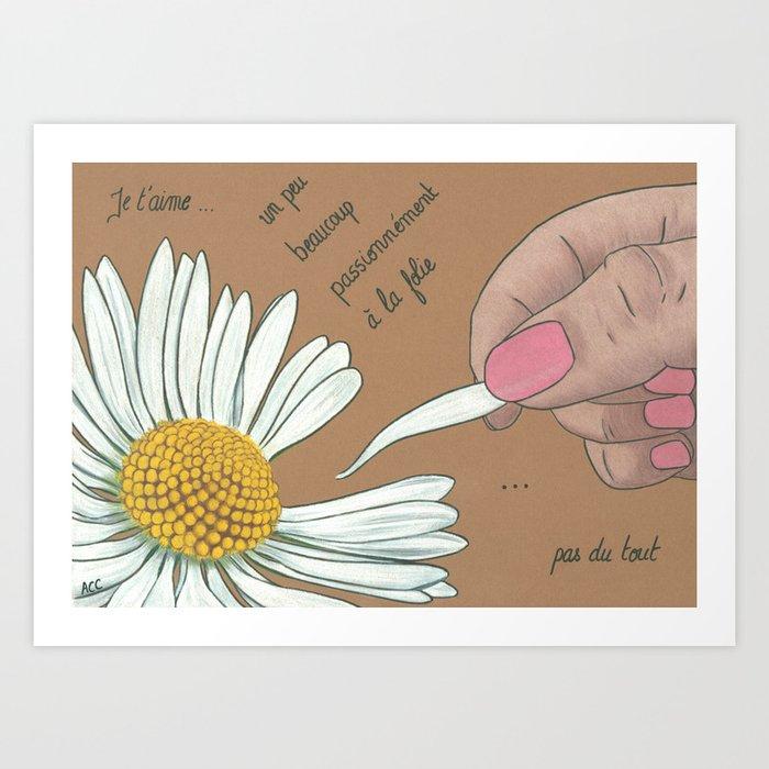 Je t'aime...un peu...beaucoup Art Print