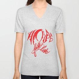 keeP hope ALIVE Unisex V-Neck