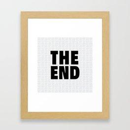 The End Black Framed Art Print