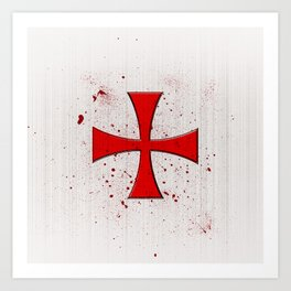 The Crusades Bloody Knight Templar Art Print