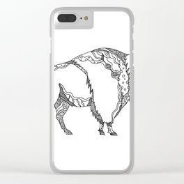 American Buffalo Doodle Art Clear iPhone Case
