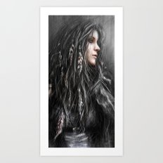 Feathers in Her Hair Art Print