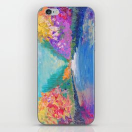AROUND THE RIVERBEND - Autumn River Modern Nature Pochahontas Abstract Landscape Acrylic Painting iPhone Skin